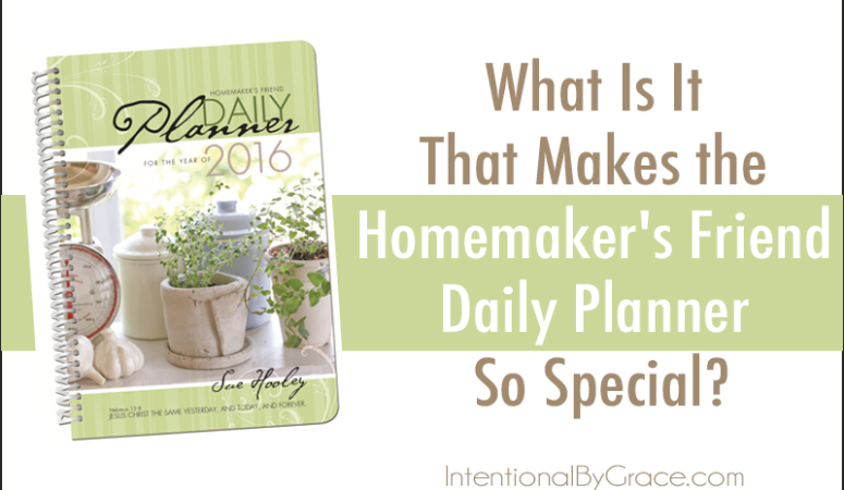 What Is It That Makes the Homemaker's Friend Daily Planner So Special?