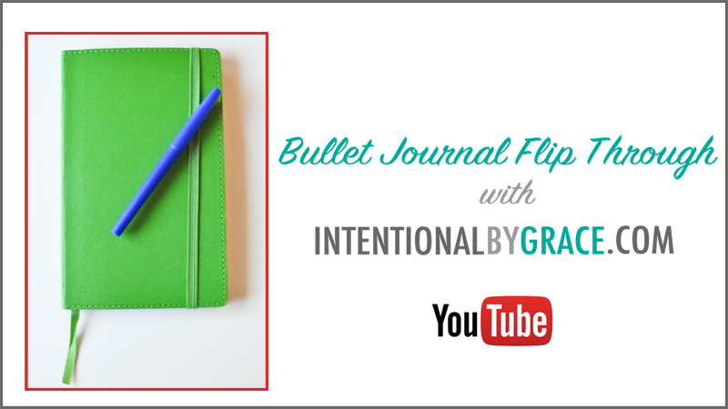my bullet journal flip through on youtube