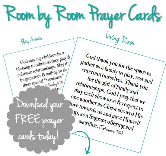 Room by room prayer cards