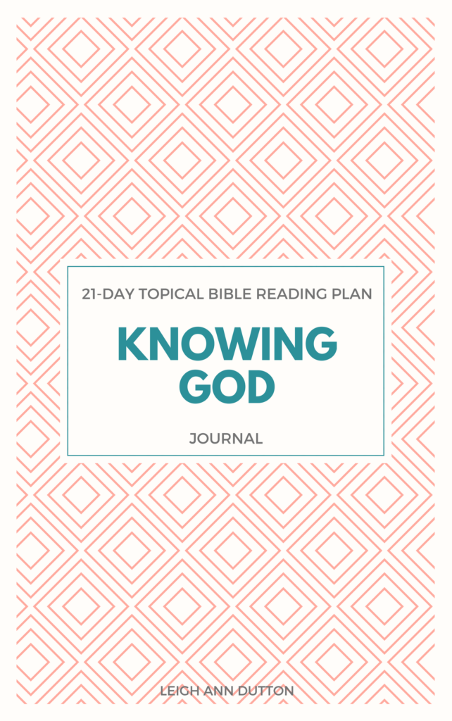 Importance of Knowin God Bible Reading Plan