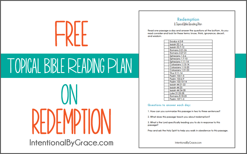 Free Topical Bible Reading Plan on Redemption