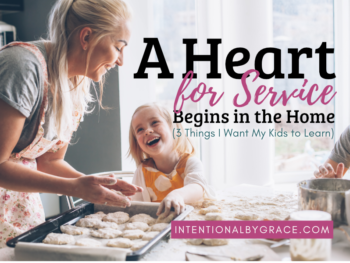 Jesus called us to follow his example of service by laying down his life. How can we teach our kids to put others first and not just seek to be the best? | IntentionalByGrace.com
