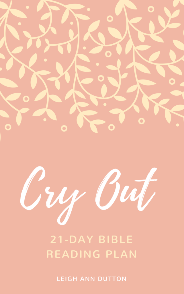 Cry Out! Bible Reading Plan Journal