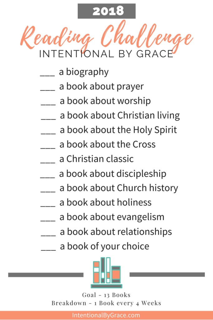 2018 Intentional By Grace Reading Challenge Intentional By Grace