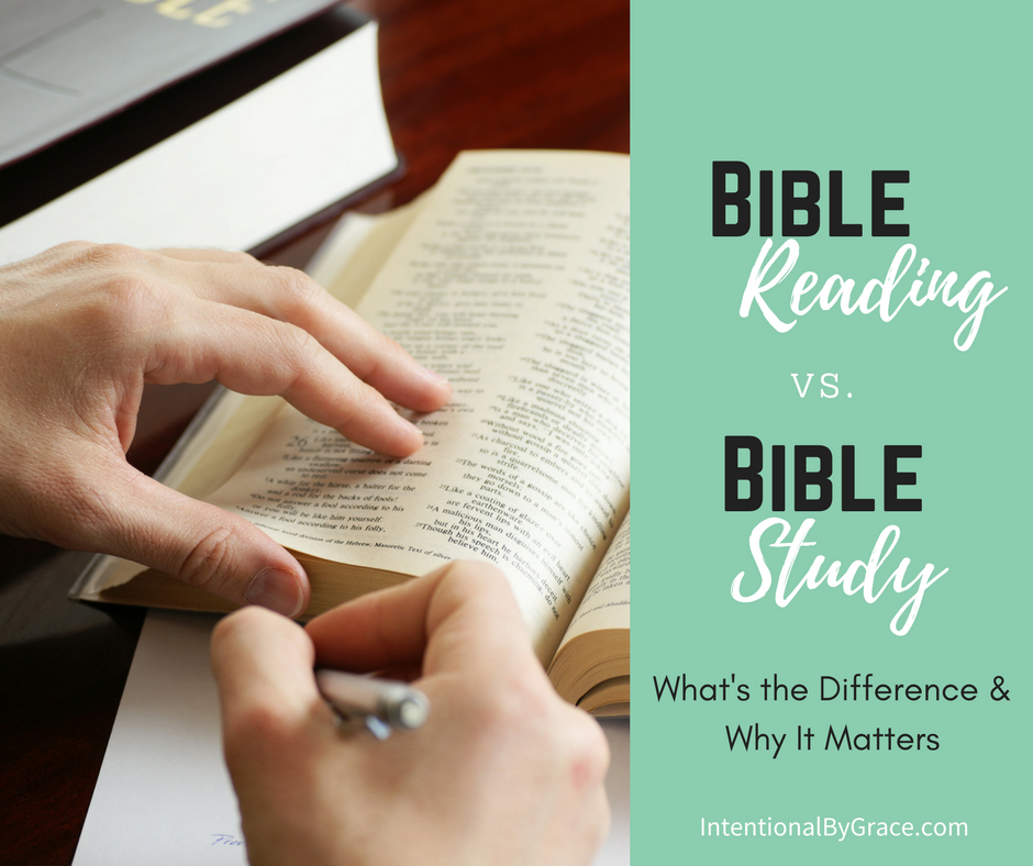 What's the difference between Bible Reading plans and Bible studies? This post explains the difference. Plus this site has tons of Bible study tips and resources to help you grow in your Christian faith!