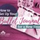 My Bullet Journal is set up for 2018, and in this post I walk you through my yearly spread and share some tips and tricks I've learned along the way. | IntentionalByGrace.com
