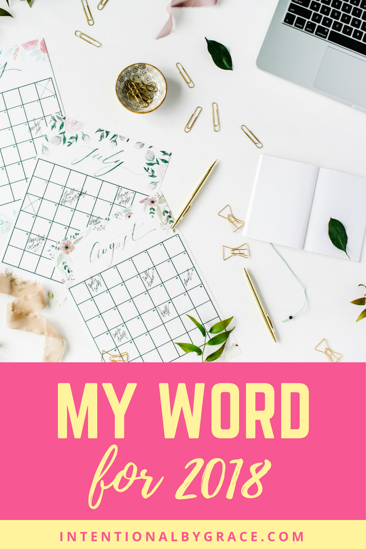 I've chosen my one word for 2018. Have you chosen a word of the year?