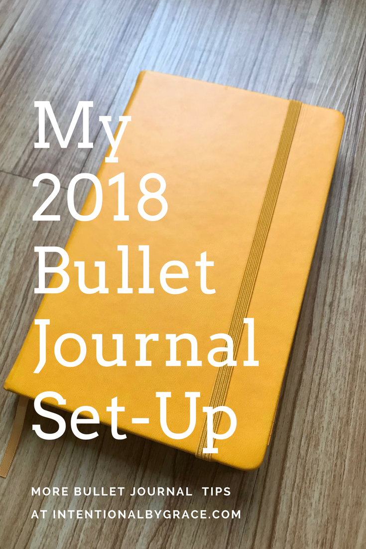My 2018 Bullet Journal Set-Up. #bulletjournal #bulletjournalideas #bujo