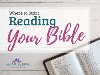 Are you wondering where to start reading your Bible? This post will help you sort it out and get you started studying your Bible effectively.   IntentionalByGrace.com