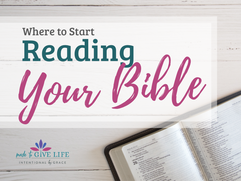 Are you wondering where to start reading your Bible? This post will help you sort it out and get you started studying your Bible effectively. | IntentionalByGrace.com