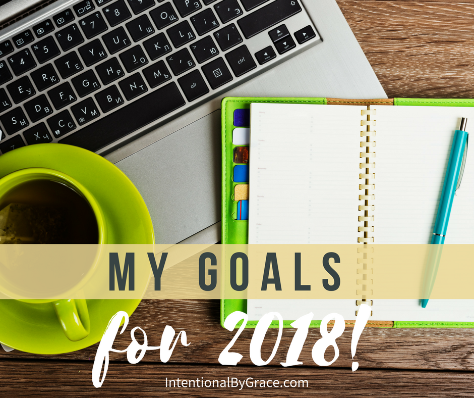 My goals for 2018!