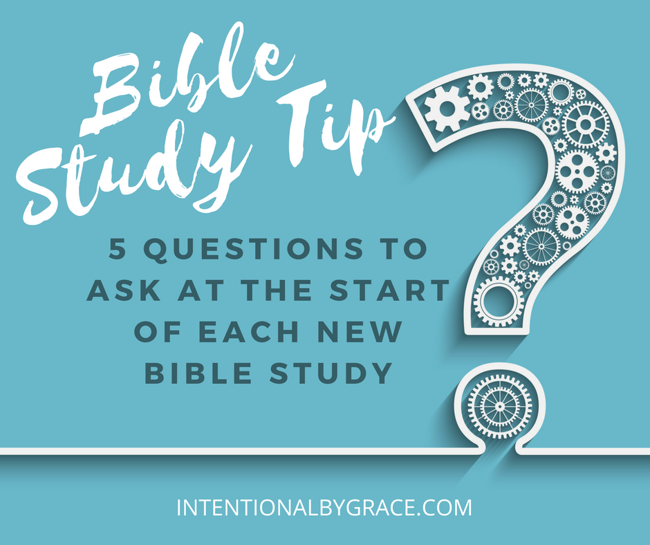 If you're ready to study a new book of the Bible, then take some time to answer these 5 questions first. These questions will help you read the book in context which in turn helps you rightly interpret scripture. #biblestudy #biblestudytips #biblestudyhelp #biblereading #studythebible