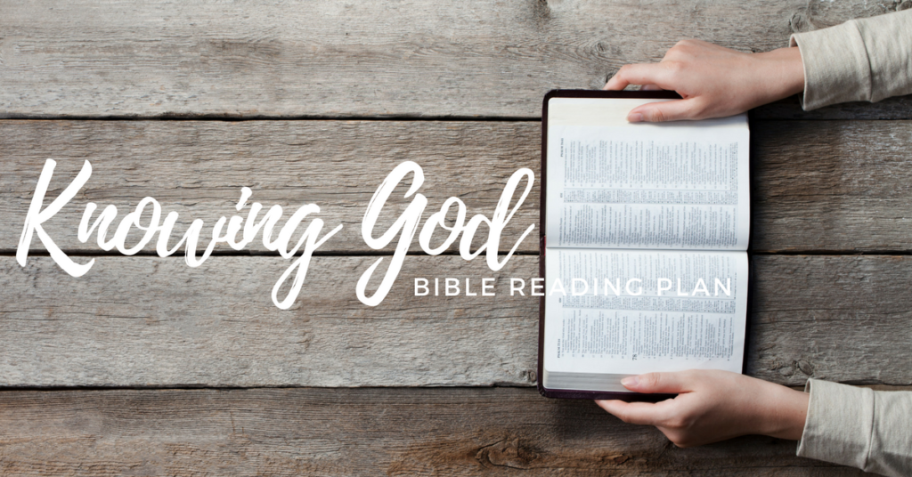 Knowing God- Free Topical Bible Reading Plan Download