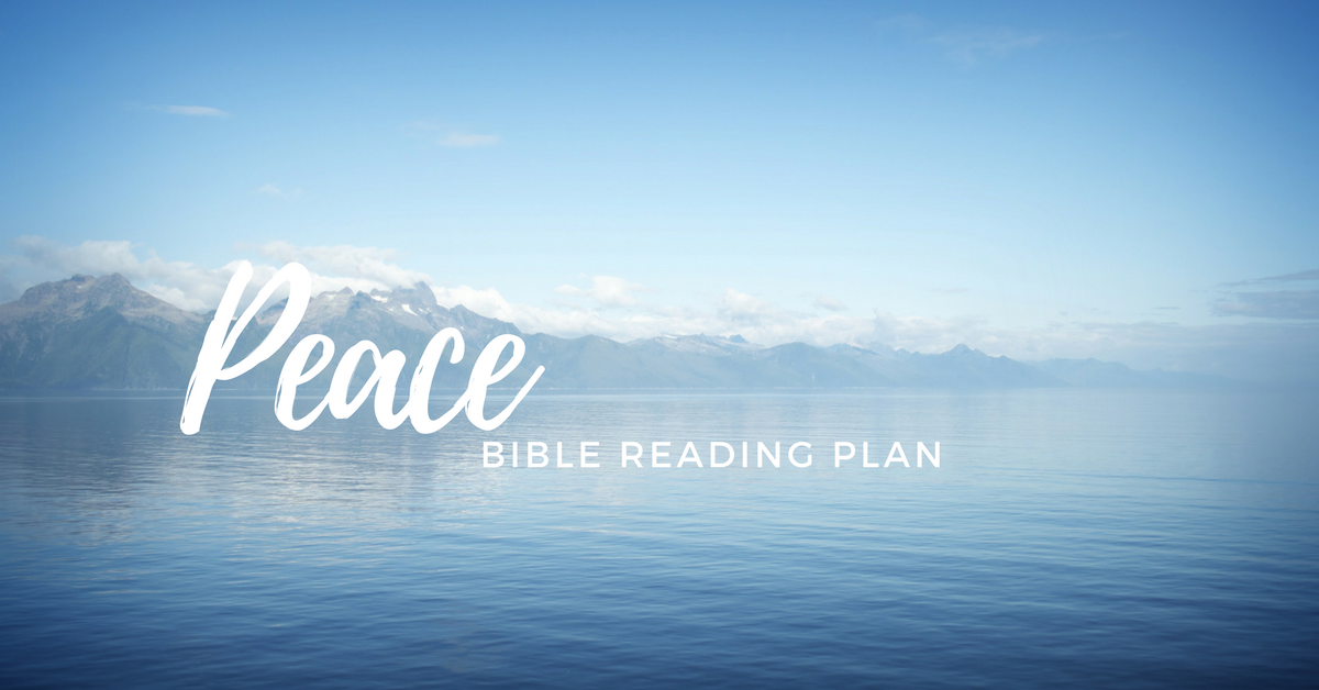Free Printable Bible reading plan on PEACE