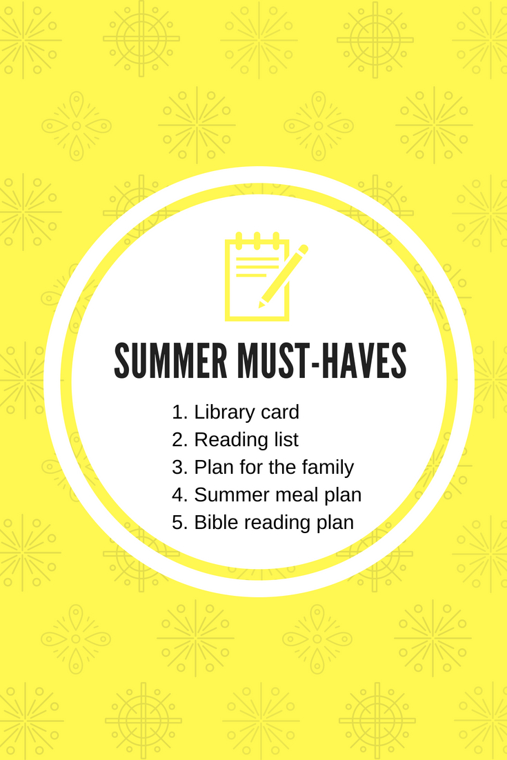 5 Summer must-haves for the intentional woman. This post will give you five simple things you should think about before the summer fun begins!
