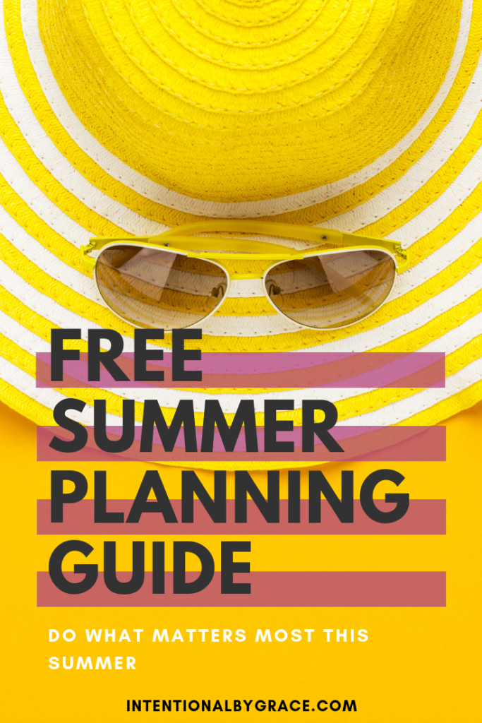 Create an intentional summer plan that your whole family will love. This summer planning guide will help you set intentions and follow through all summer long!