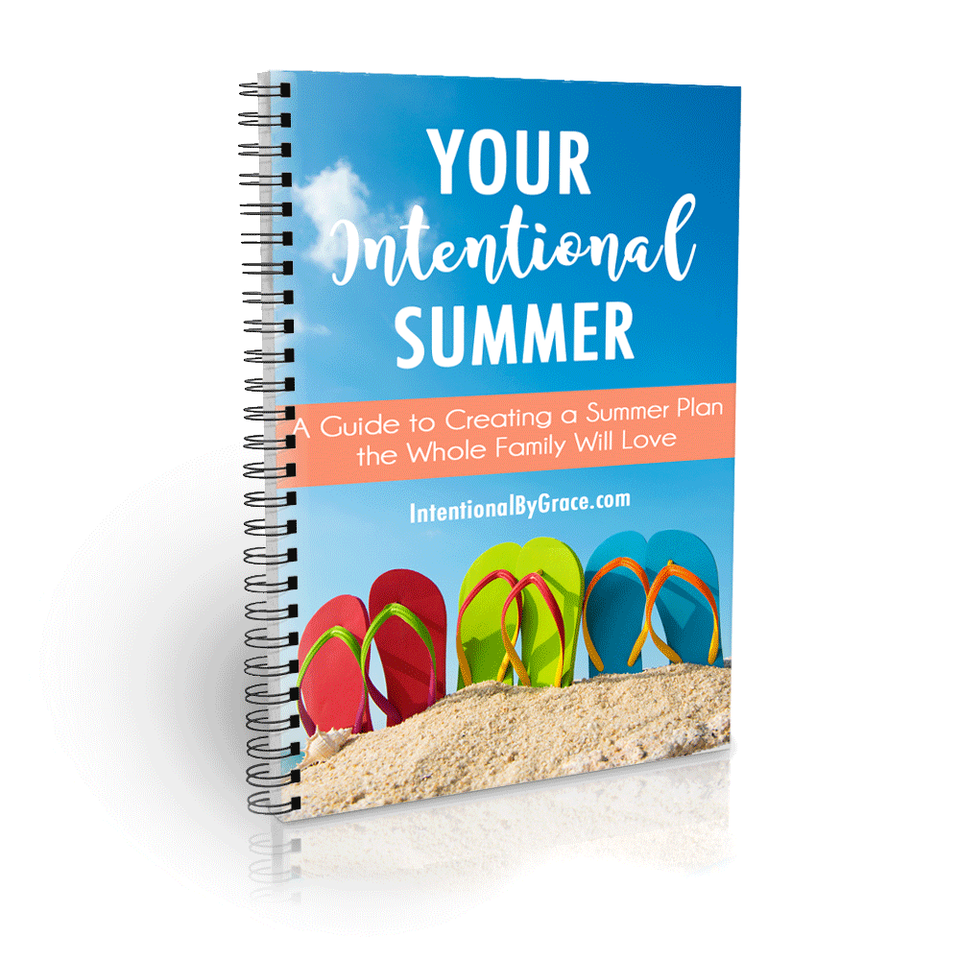 Make an intentional summer plan your whole family will love with this free summer planning packet!