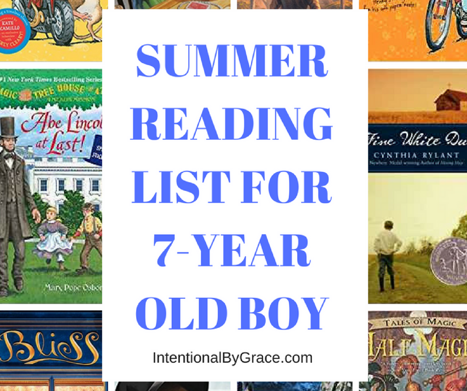 A great summer reading guide for 7-9 year old boys!