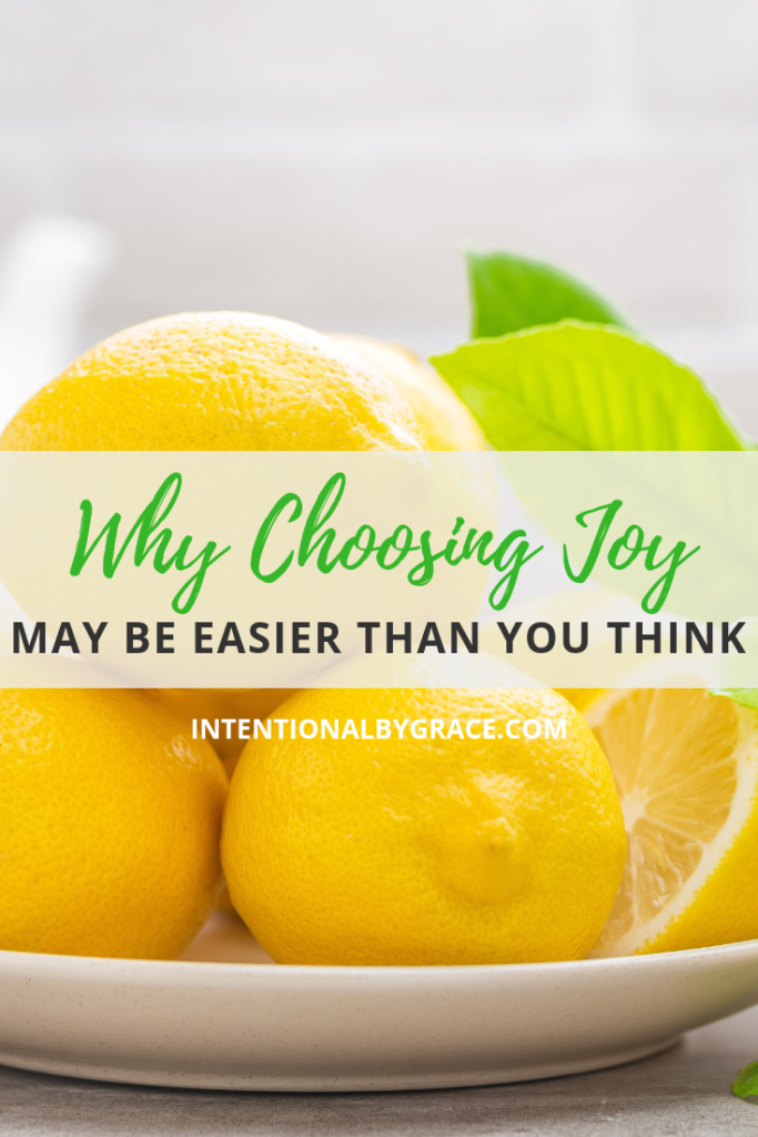 Why Choosing Joy in Trials may be easier than you think.