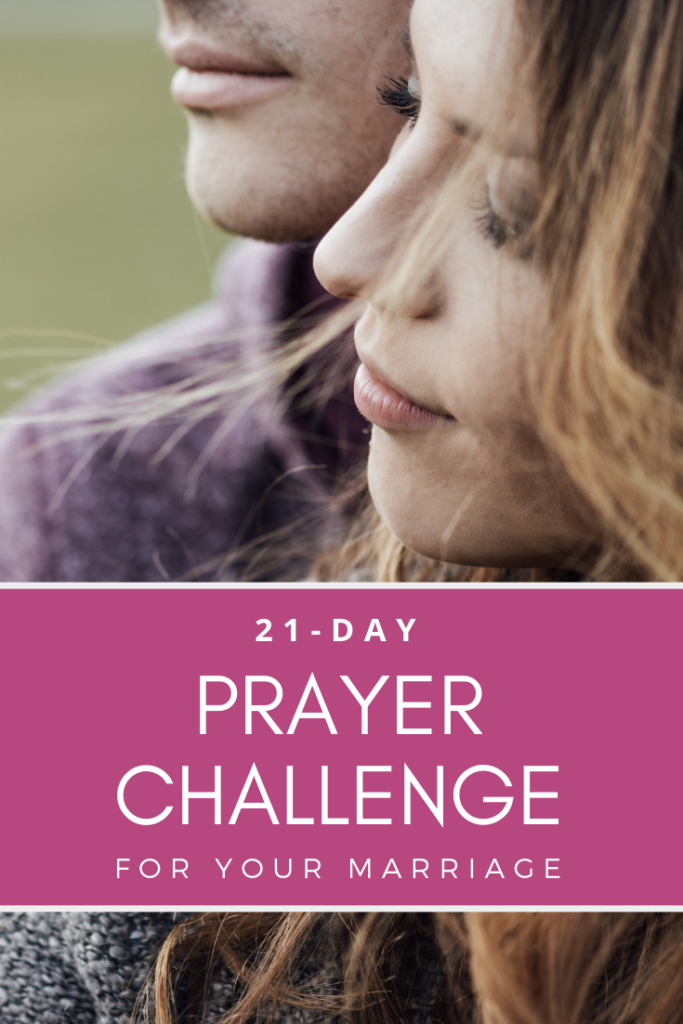 Everyday for 21 days you will be challenge to pray for your marriage. Take the 21-day prayer challenge for your marriage!