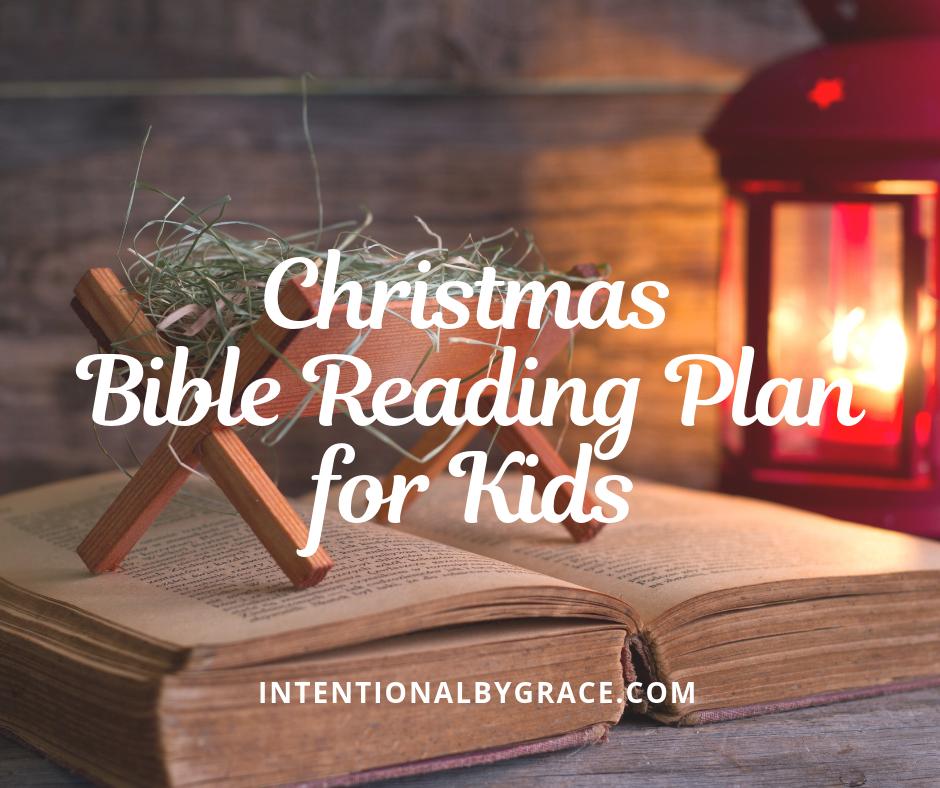 Free Printable Christmas Bible Reading Plan and Study Guide for Kids.