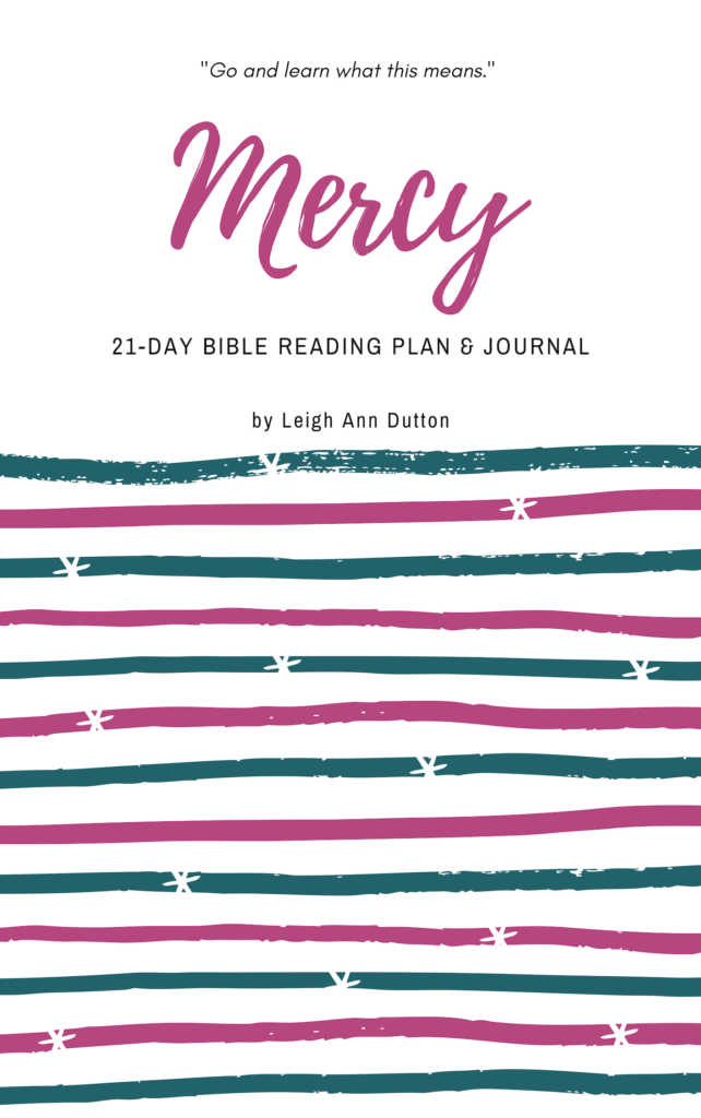 Mercy Bible Reading Plan and Journal