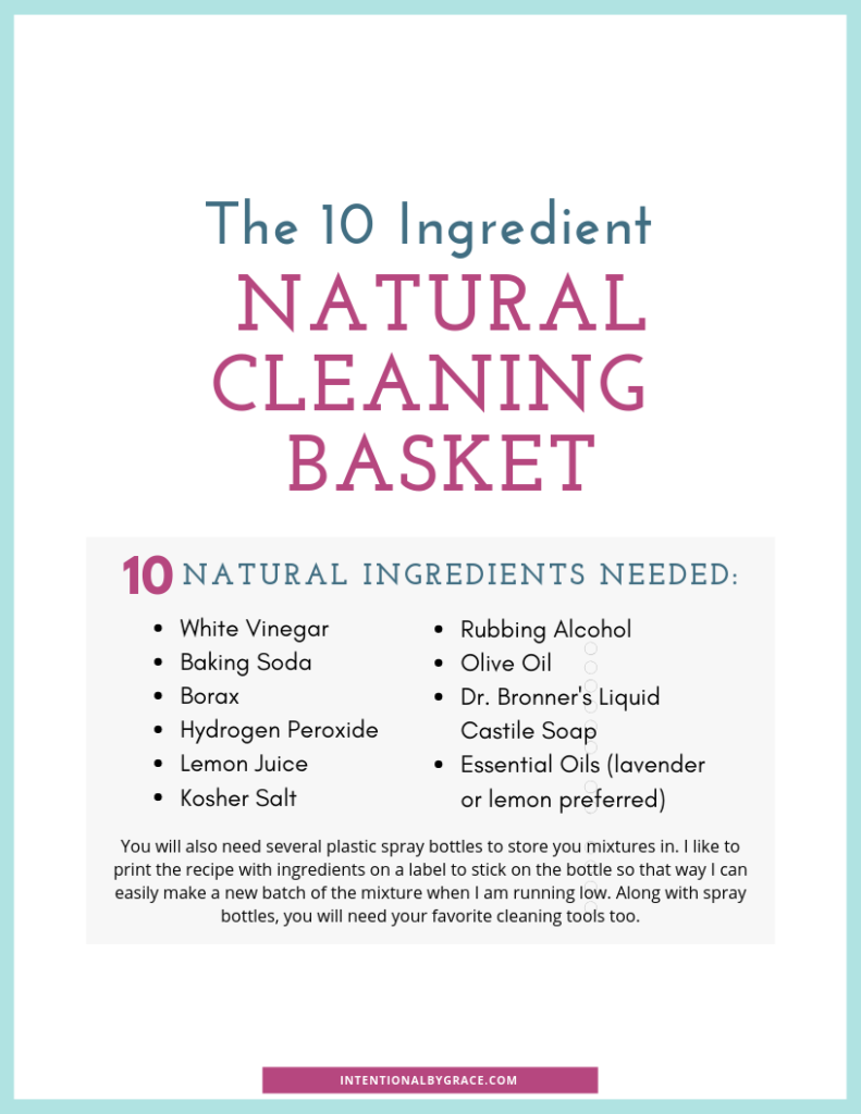 The 10 Ingredient Natural Cleaning Basket Intentional By