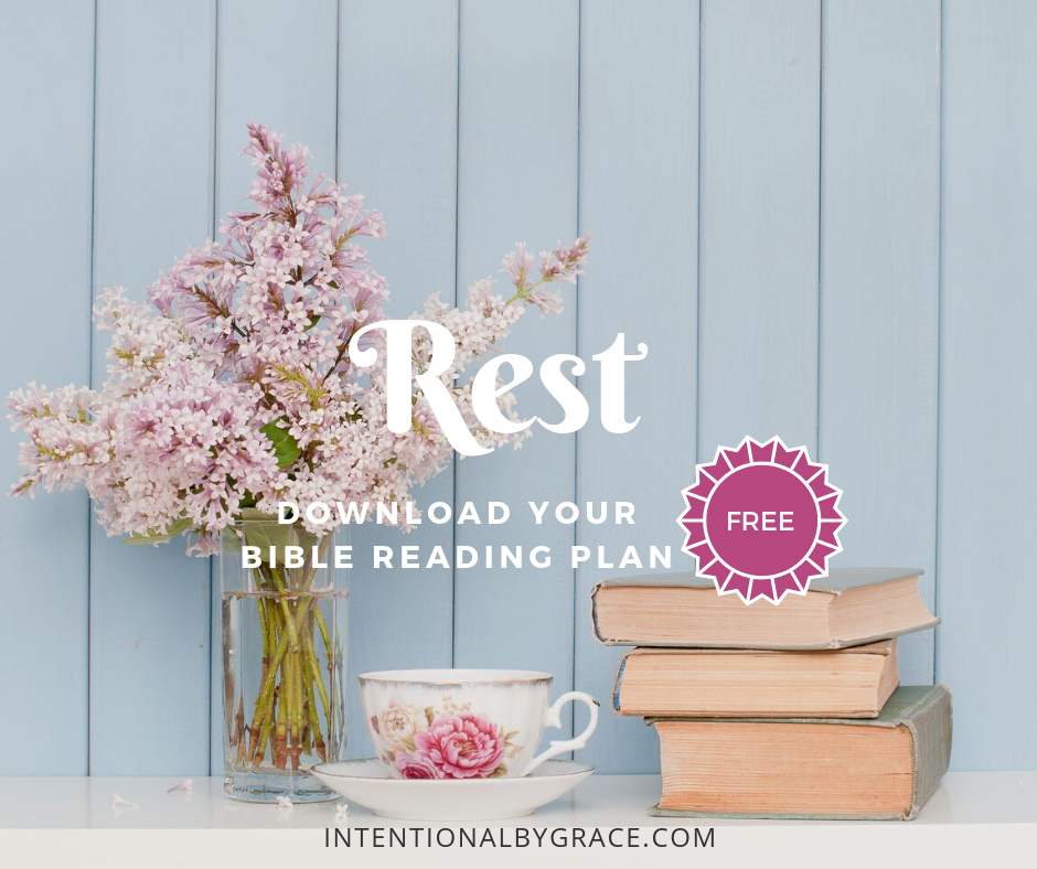 21-Day Topical Bible Reading Plan on Rest. Free download printable to help with Bible Reading