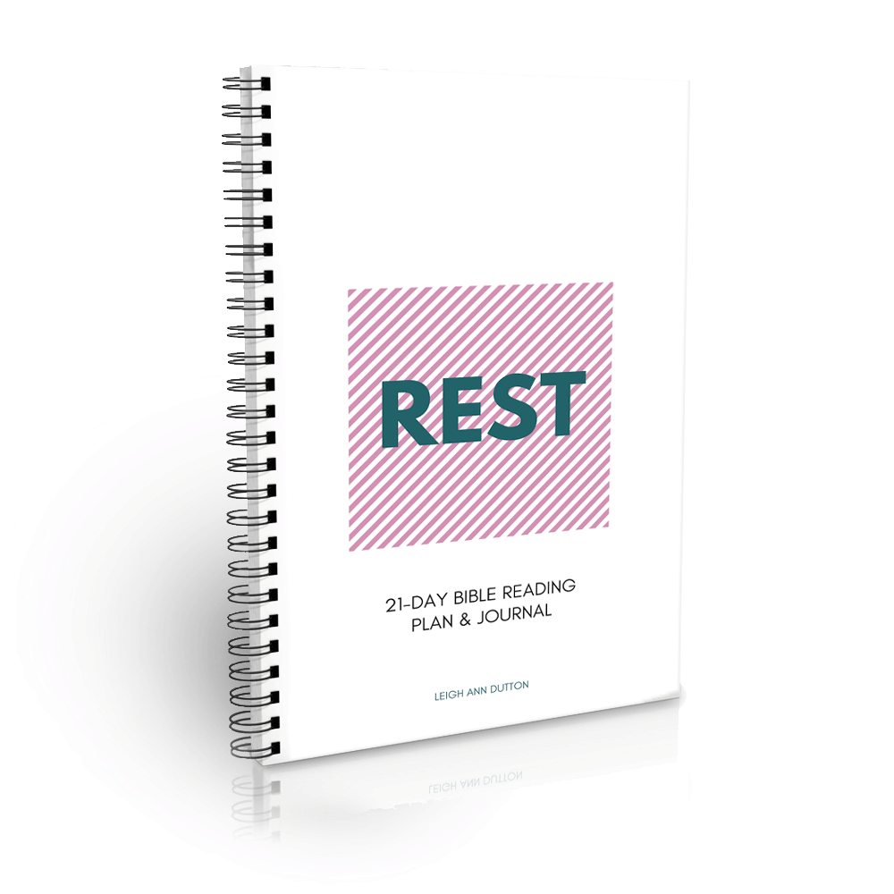 Printable Journal for Bible Reading Plan on Rest. Check it out in the store!