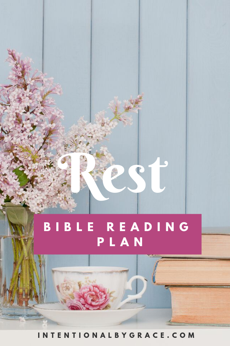 Free Bible Reading Plan Printable  on Rest