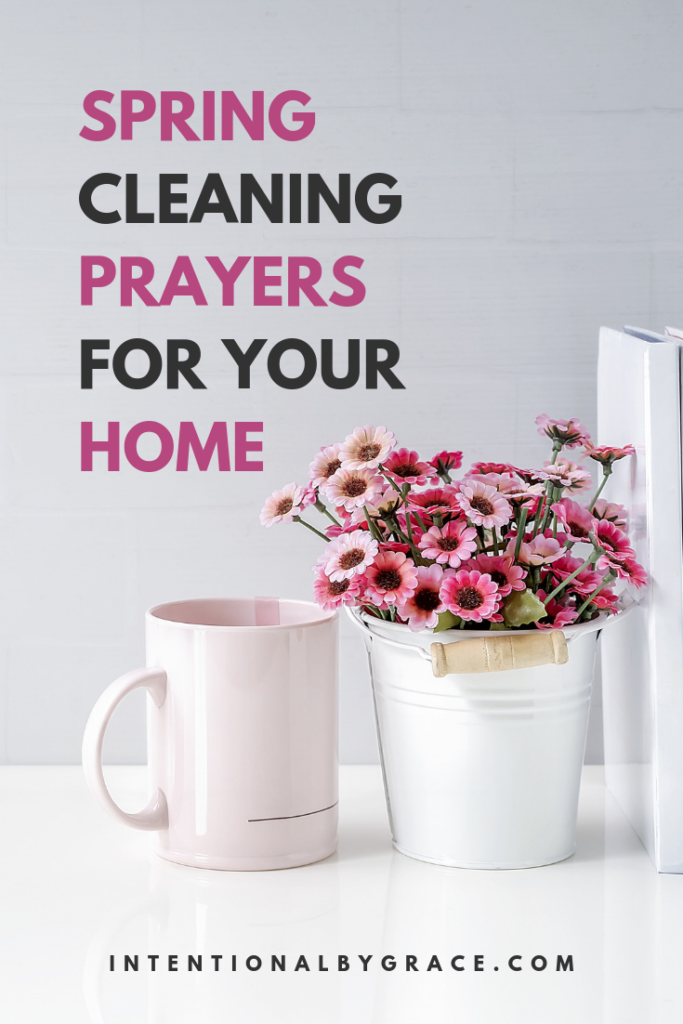 Spring clean your home with these prayer prompts. Let your housework become worship as you prayer walk your home as you clean.