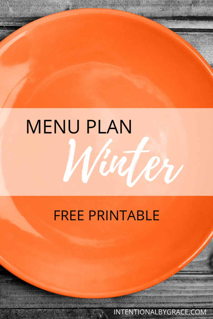 Meal plan the easy way with Seasonal Meal Planning. Checkout this sample Winter menu plan that you can create once and use all season long. Plus download a free seasonal meal planning printable.