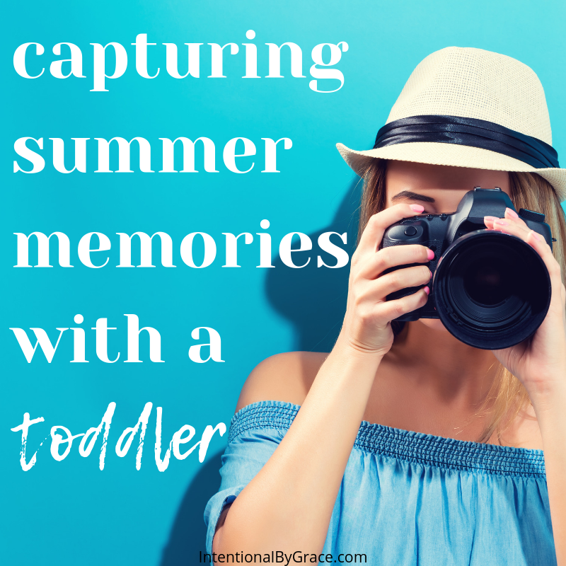 Ideas for capturing summer memories with your toddler! What a great way to be intentional this summer!