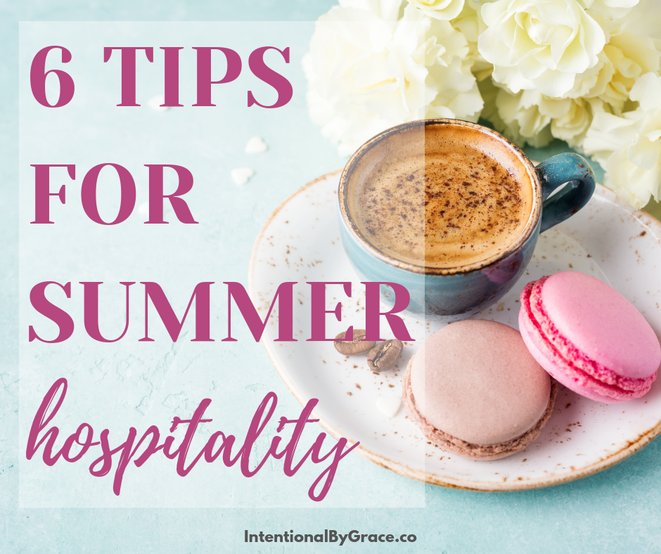 There are many ways we can practice summer hospitality that get people out of the house, that don't cost a lot of money, and that extend sweet fellowship to other believers.- IntentionalByGrace.com