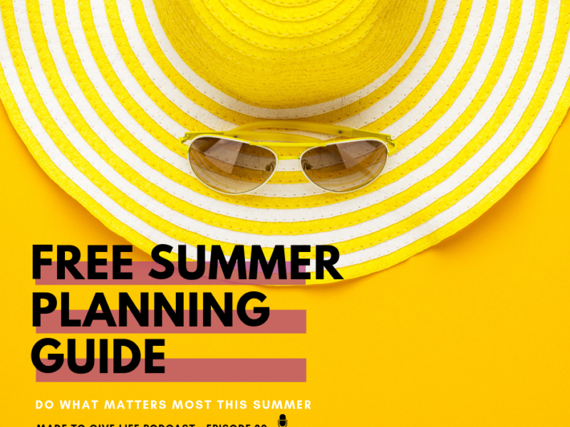 Free Summer Planning Guide- Your Intentional Summer Planning Guide