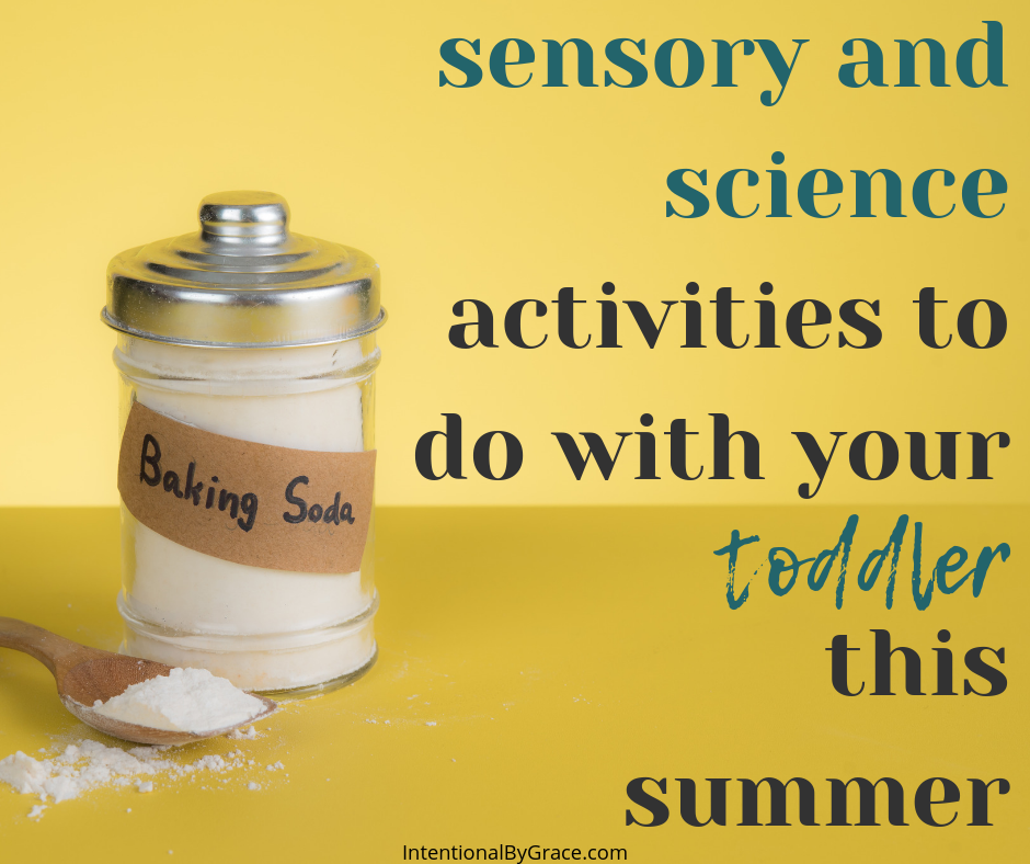 Looking for intentional summer toddler activities to do with your child? Day 5 of our series involves messy science and sensory activities for the summer!