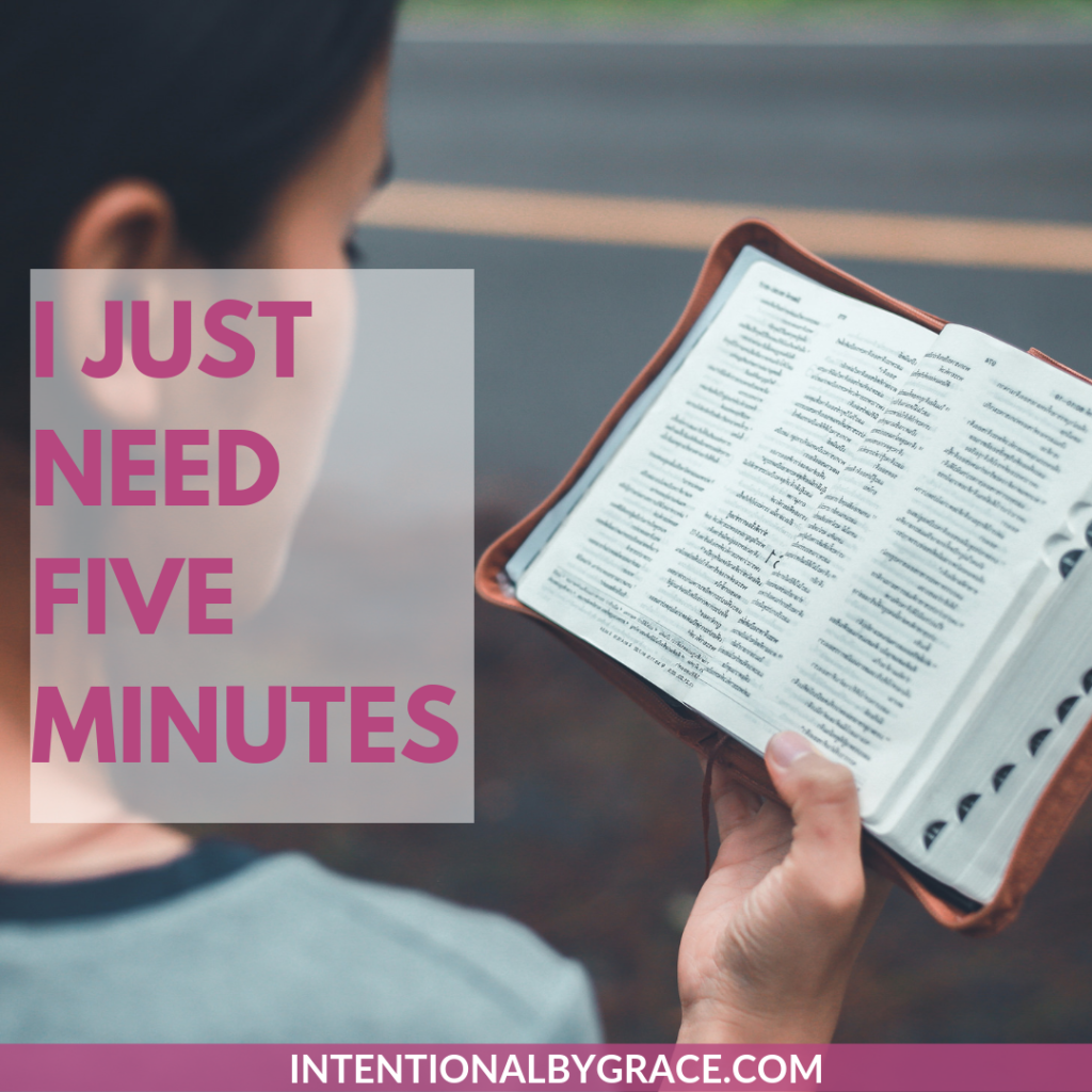 Are you a mom of young children (or even just one child)? Do you feel like you never have five minutes to yourself to just think, let alone spend time alone with God? You aren't alone! Keep reading...