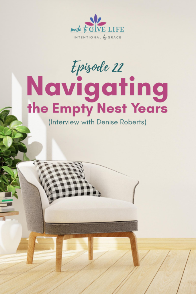Navigating the empty nest years and living intentionally in retirement.