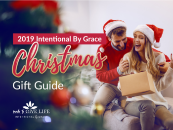 You don't have to dread the holidays! We have meaningful, life-giving ideas for Christmas gift giving, to help your family focus on what matters most. | IntentionalByGrace.com