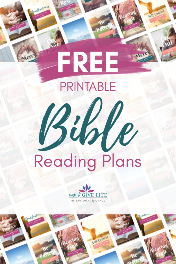 Free Printable Bible Reading Plans