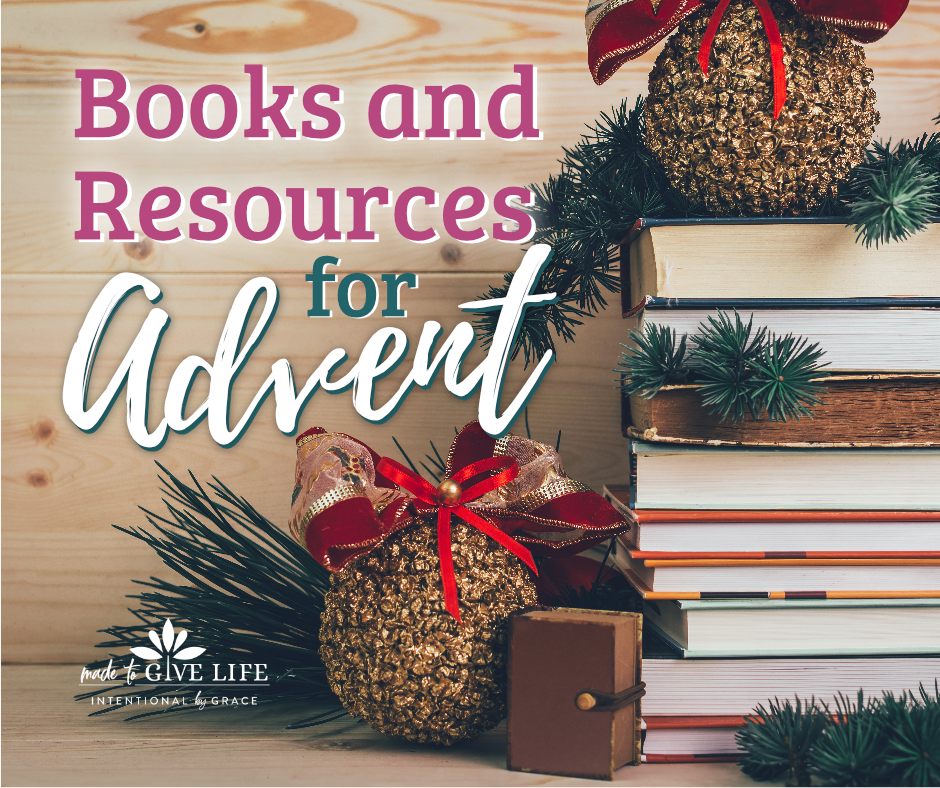 How do you celebrate advent with your family? We've got a list of meaningful resources for advent, including advent books, bible reading plans, devotionals, calendars, and more! | IntentionalByGrace.com
