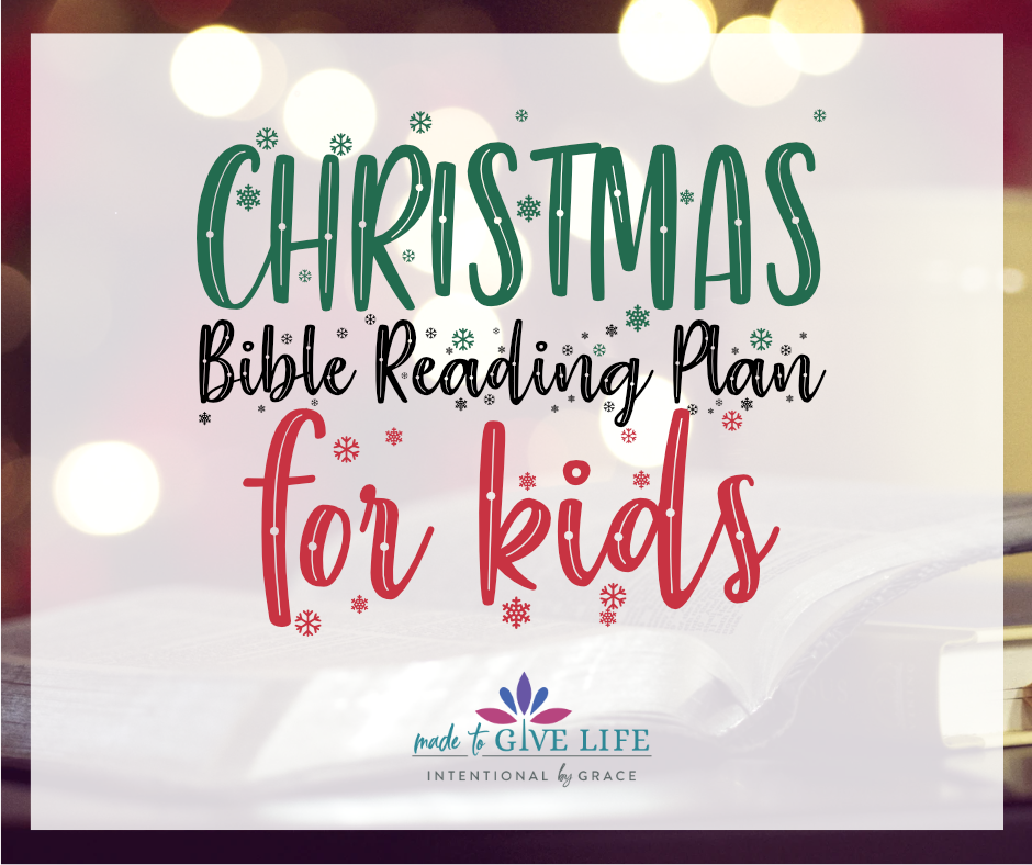 Free Christmas Bible Reading Plan for Kids (perfect for ages 8-12 years old)