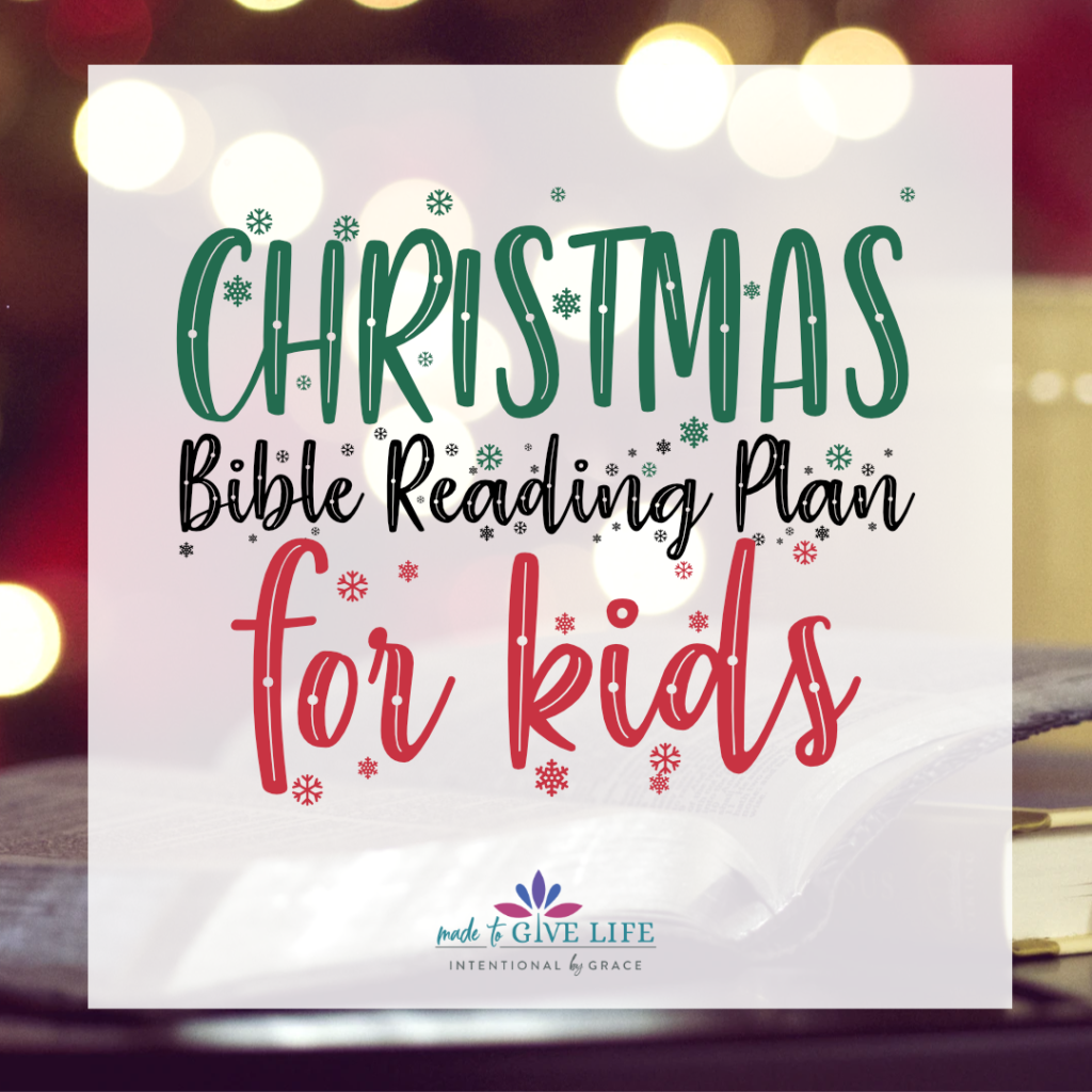 Free Christmas Bible Reading Plan for Kids! Perfect Bible reading plan for 8-12 year olds!