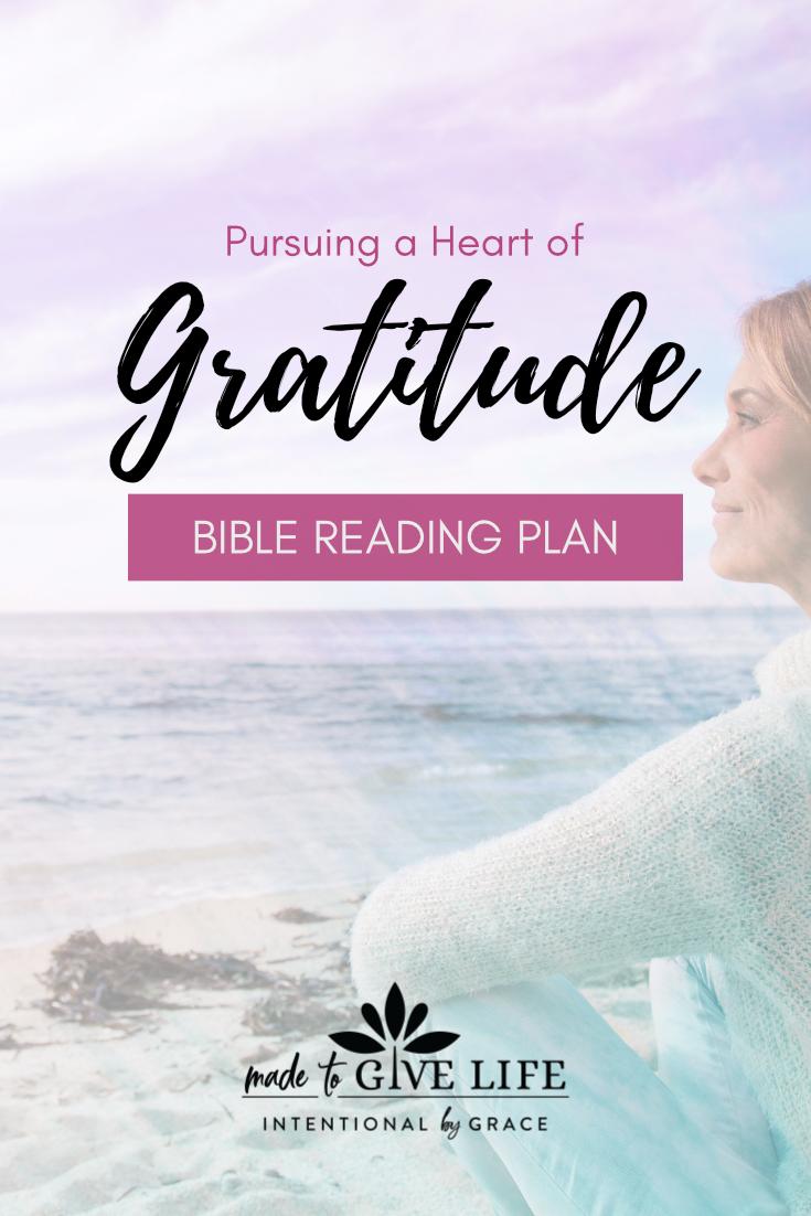 Free Bible Reading Plan on Gratitude