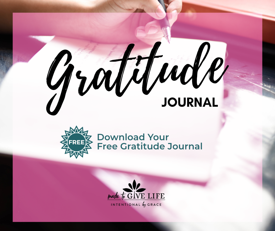 21 Christian gratitude journal prompts to grow in giving thanks.