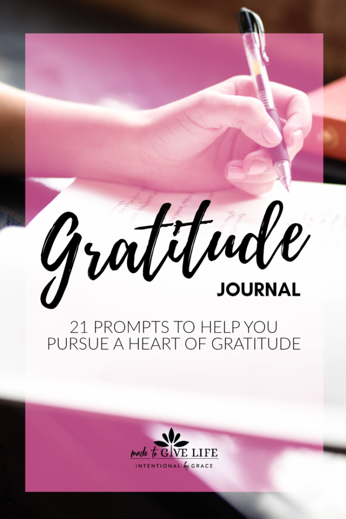 Christian gratitude prompts to use in your prayer journal.