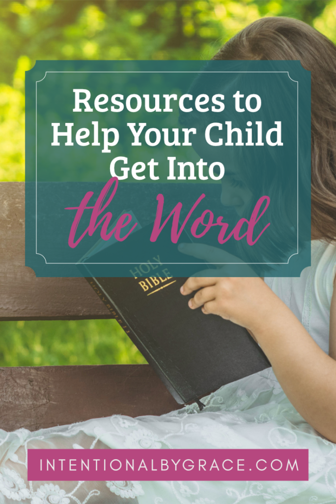 Here's a list of the best Bible study resources for kids. Help your preschooler, beginning reader, or kids ages 8-12 get into the Word of God!  | IntentionalByGrace.com