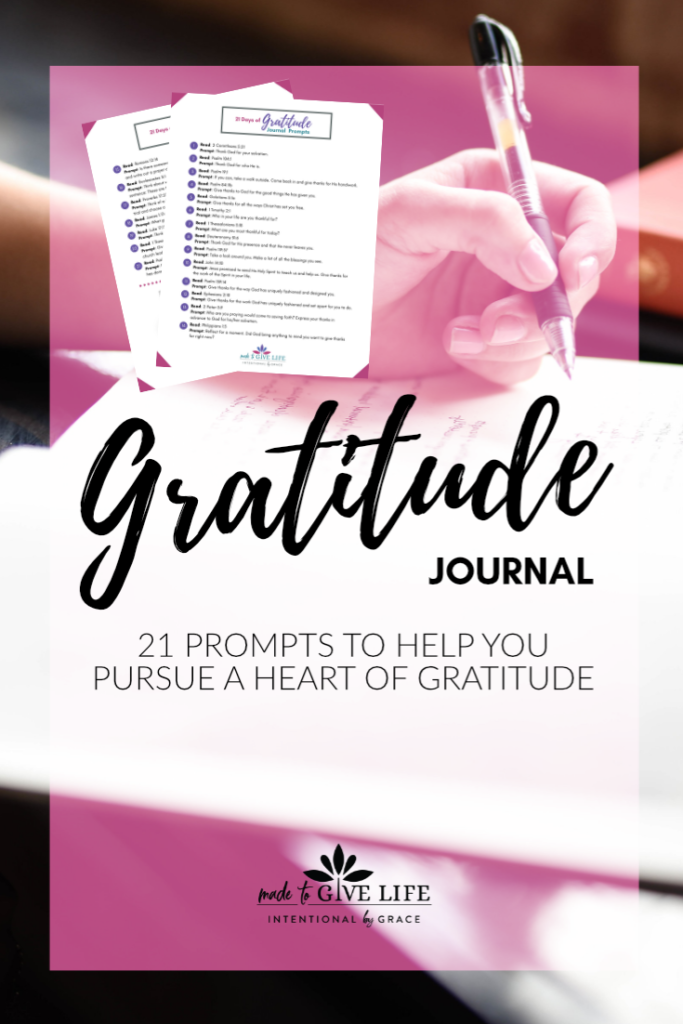 Christian gratitude prompts for your prayer journal.