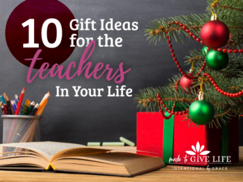 We've got you covered with meaningful gift ideas for the teachers in your life. Faith-inspiring, life-giving, Christian gifts for your teachers. | IntentionalByGrace.com