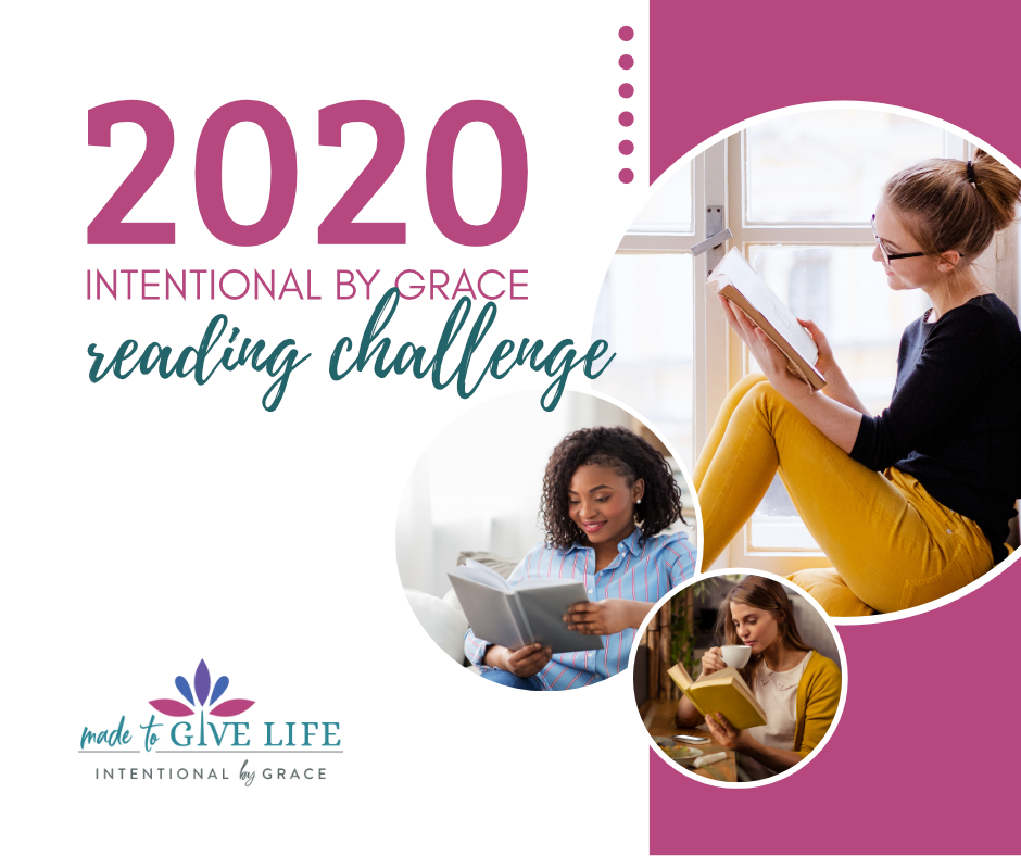 Join the 2020 Reading Challenge for Christian Women, by Intentional By Grace. Choose your challenge level and gain accountability. | IntentionalByGrace.com